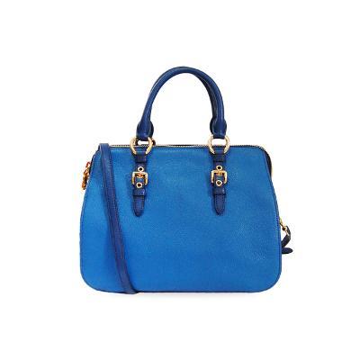 ribbon satchel small bag blue